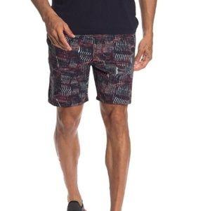 NEW Outdoor Voices RecTrek shorts Navy/Red Terrain